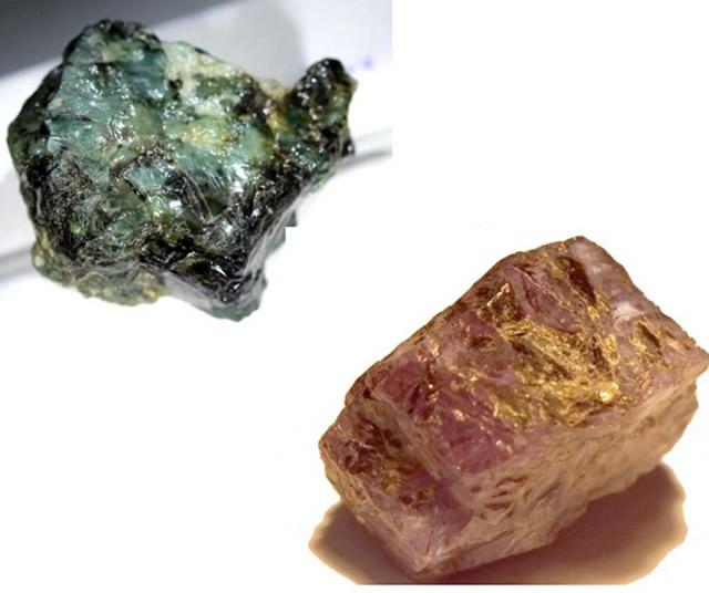 Необработанны минерал Александрит