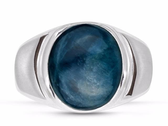 Серебряное кольцо с камнем Апатит