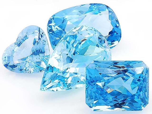 Обработанный минерал Аквамарин