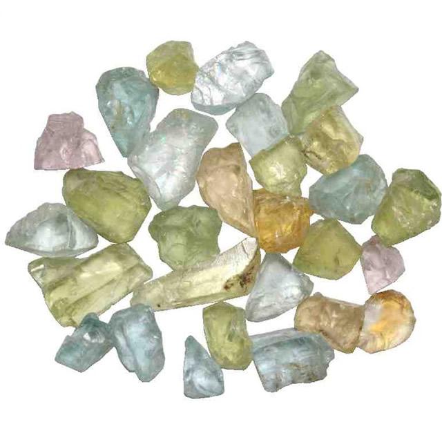 Россыпь разноцветных камней Берилла