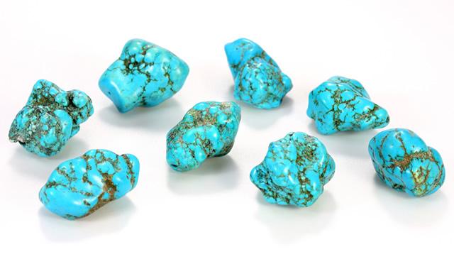 Россыпь камней природной Бирюзы