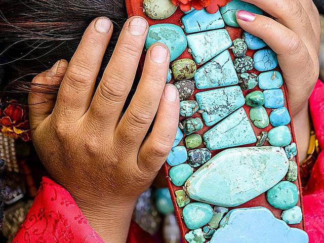 Очаровательный небесно-голубой минерал Бирюза