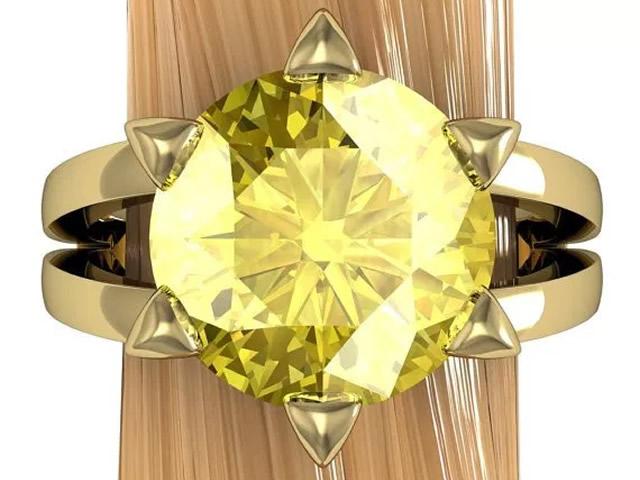 Золотое кольцо с золотистым Гелиодором