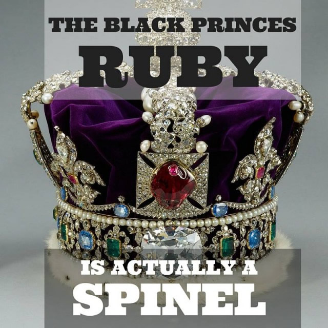"""Шпинель которая долго считалась рубином """"Черный принц"""""""