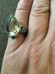 Кольцо с натуральным Султанитом