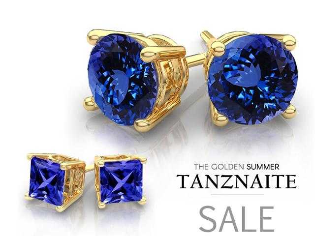 Комплект украшений с Танзанитом в золоте
