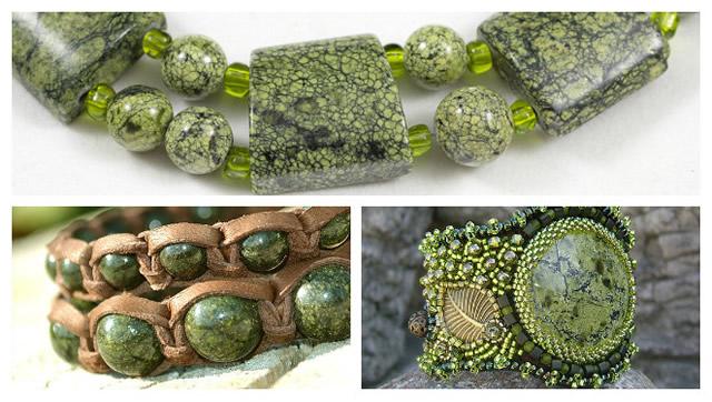 Ювелирные изделия из Змеевика