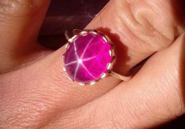 Магическое кольцо со звездчатым рубином