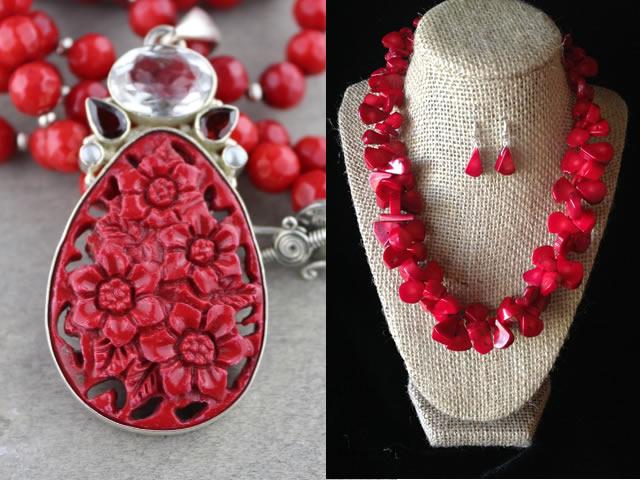 Ювелирные украшения с кораллом