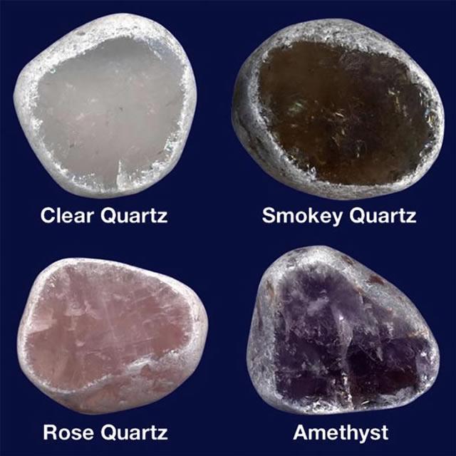 Различные виды кварца