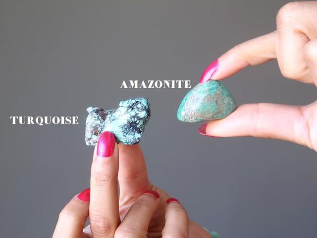 Сравнение бирюзы и амазонита