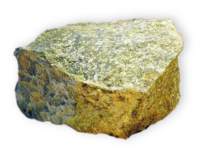 Крупная порода драгоценного камня оливин