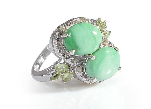 Серебряное кольцо с натуральным варисцитом