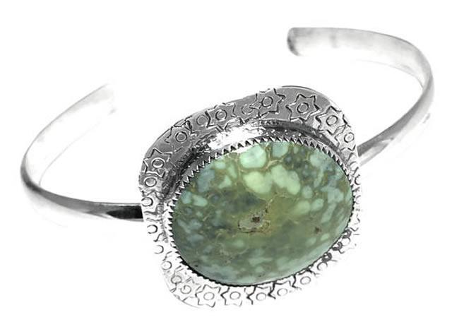 Браслет из серебра с крупным варисцитом